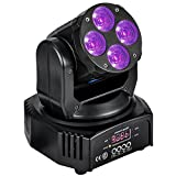 MFL W410 Mini Moving Head Light RGBW Amber Purple Led Lamp for Church Wedding Party light Dramma Live House Nightclub