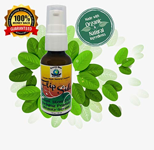 Flip Side Plant Stem Cell Night Firming Peptide & Moringa Beauty Serum | Made with Organic Natural Vegan Ingredients | Anti Aging Skin Tightening Face Serum | 1 ounce