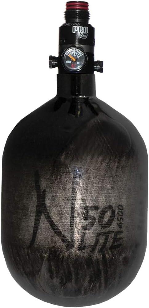 Ninja Carbon Fiber HPA Tank - 50/4500 LITE - PRO V2 REG - Translucent Black