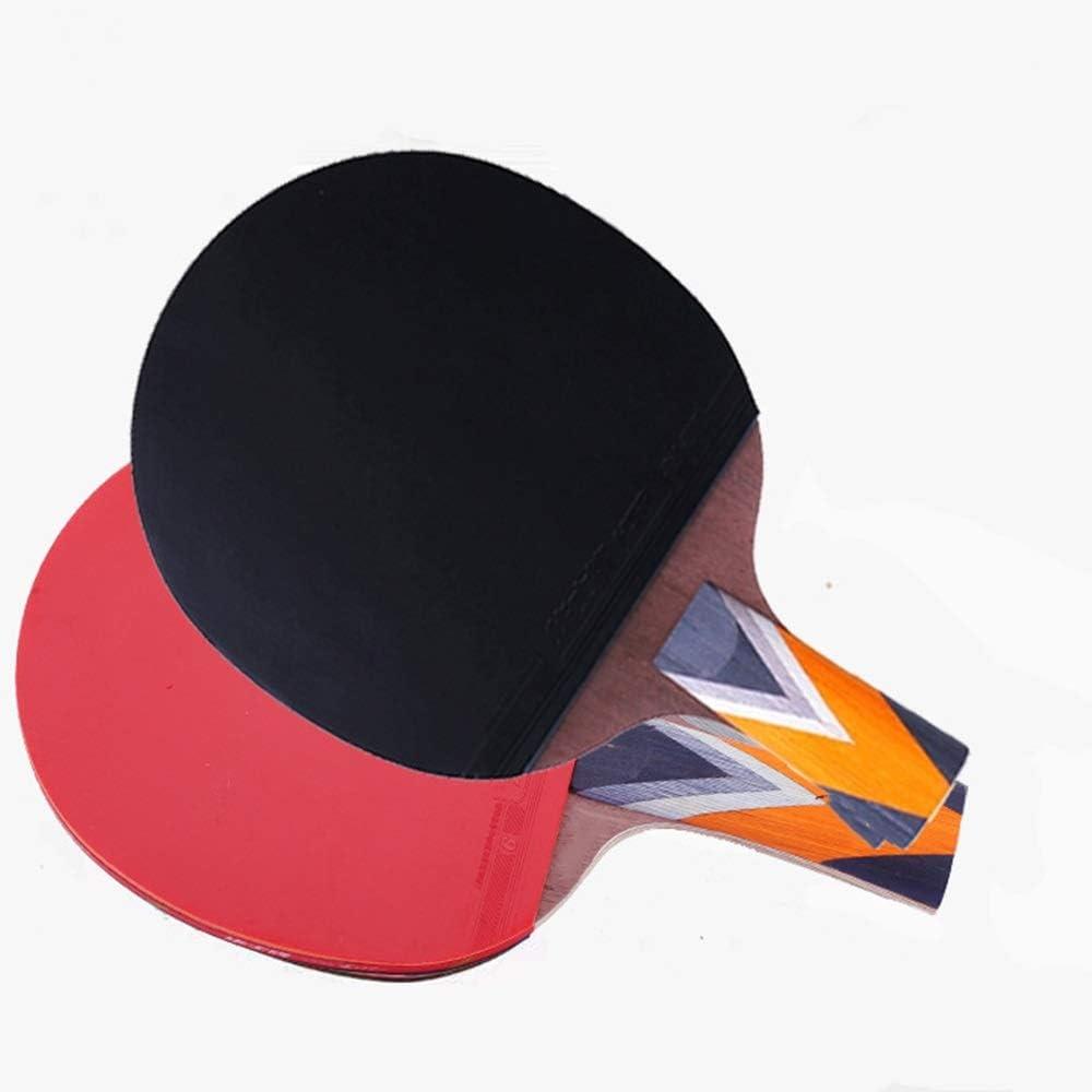 Vobajf Paleta de Ping Pong Mesa de Ping Pong Raqueta de Doble Cara Seis Estrellas Anti-Adhesivo Profesional Competencia Tabla Raqueta de Tenis con la Raqueta Se Dan la Mano Grips
