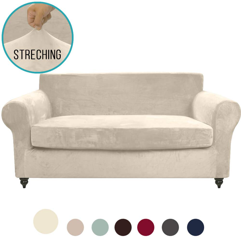 Pleasing Moymo 2 Piece Stretch Velvet Loveseat Slipcover High Stretch Loveseat Cover Slipcovers For Couches And Loveseats Loveseat Slip Cover For Leather Gmtry Best Dining Table And Chair Ideas Images Gmtryco