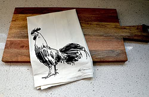 Amazon.com: Rooster Flour Sack Tea Towel: Handmade
