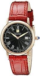 Steinhausen Women's WWL493RGLEA Dunn Luxe Analog Display Swiss Quartz Red Watch