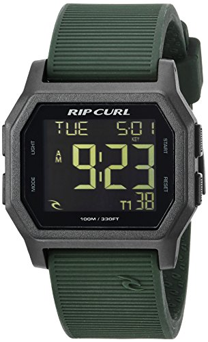 - Rip Curl Men's Atom Quartz Sport Watch with Silicone Strap, Green, 24 (Model: A2701-MIL)