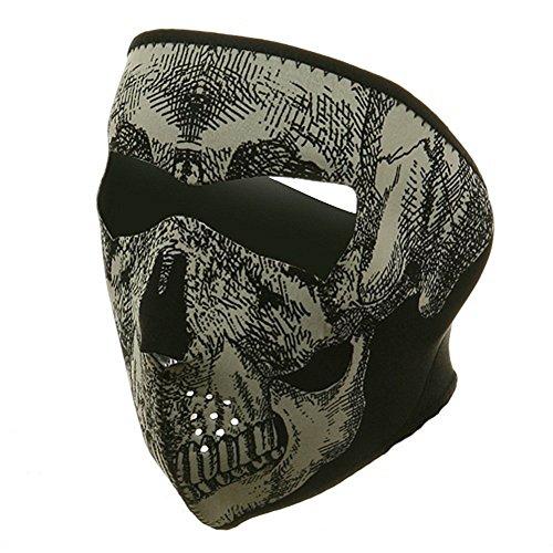 ZAN Headgear Full Face Glow In The Dark SKULL Neoprene Protective Facemask