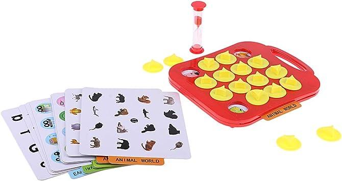 P Prettyia Juego de Mesa Juego de Bingo Juguete Infantil: Amazon.es: Juguetes y juegos