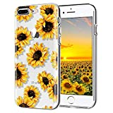 iPhone 6 Plus case, iPhone 6s Plus case, AIKIN Simply Designed Flower Pattern Case Soft TPU Flexible Case Shockproof Protective Cute Case for iPhone 6s Plus, iPhone 6 Plus 5.5' (Sunflower + Clear)