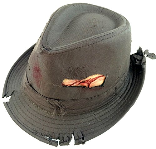 EDS Costumes Bloody Fedora Zombie / Dead Mans Hat (Dead Person Makeup)