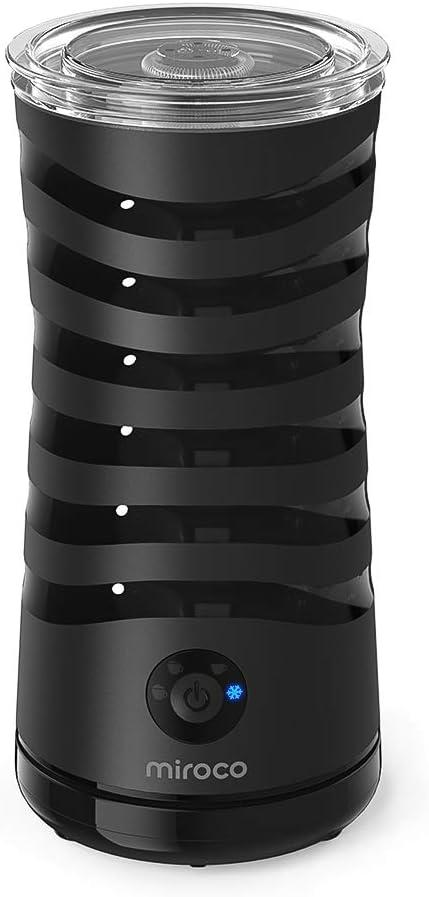 elektrischer milchaufschaeumer in schwarz doppelwandig