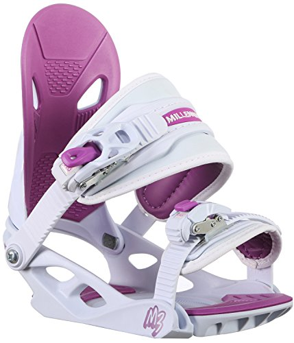 Girls Snowboard Binding - M3 Solstice 4 Jr Snowboard Bindings Girl's Sz S (3-6)