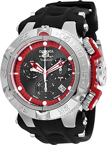 Invicta Men's Subaqua Stainless Steel Quartz Watch with Silicone Strap, Black, 29 (Model: 25349) (Aqua Men Invicta For Watches)