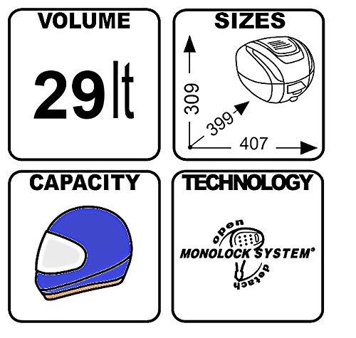 Topcase Kawasaki J125//J300 Givi B29NT Monolock 29 Liter schwarz