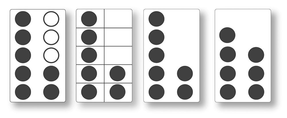 Amazon.com: Crystal Springs Books Ten-Frame Cards, Singapore Math ...