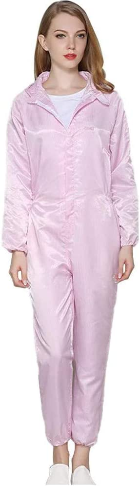 Reusable Washable Protective Coveralls Jumpsuit for Women Men Dust-Proof Anti Blue White Pink Optional Protective Coveralls with Hood