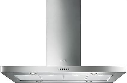 Smeg KI120XE Encastrada Acero inoxidable 526m³/h B - Campana (526 m³/h, Recirculación, A, A, C, 64 dB): Amazon.es: Hogar