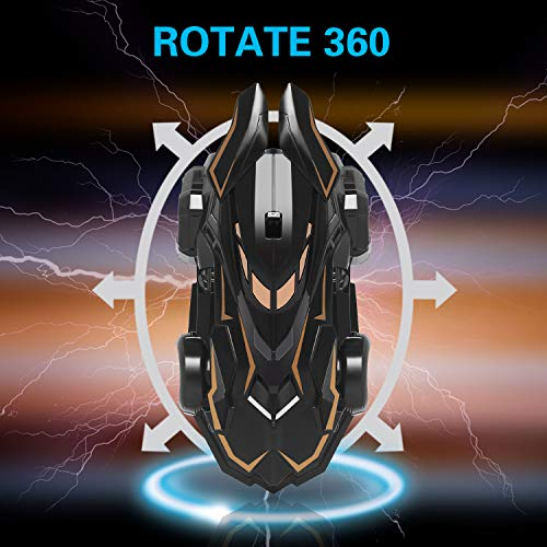 MEYUEWAL RC Remote Control Car Rechargeable Wall Climbing Cars Dual Mode 360° Rotating Stunt Race Toy Cars with LED Light Stunt Climber Racing Car Best Gifts for Kids, Boys & Girls (Black)