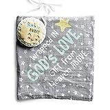 Dayspring Sam & Essie - Wrapped in God's Love - Muslin Swaddle Blanket with Door Hanger