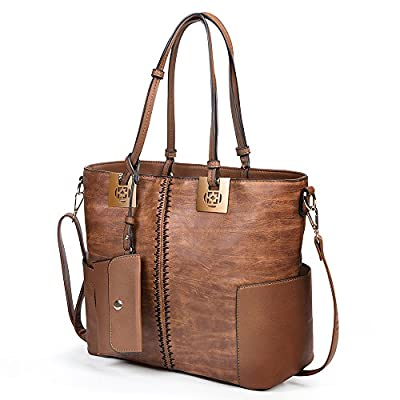 Womens Leather Tote Bags, oteawe Womens Purses and Handbags Casual Crossbody Shoulder Bag