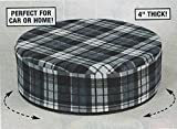 4'' Plaid Swivel Booster Seat Cushion