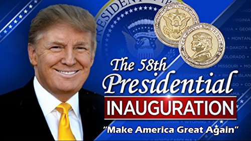 Trump Coin, 58th Presidential Inauguration of Donald J. Trump Challenge Coin by AIIZ Collectibles, 1.75'' Diameter in Shinny 24K Gold & 925 Silver Plating, packaged in Black Velvet Case by AIIZ Collectibles (Image #6)