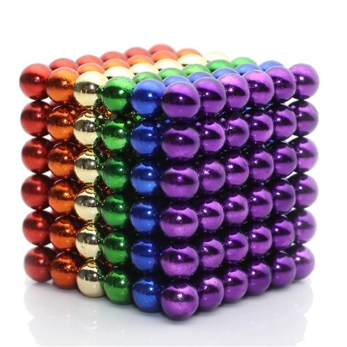 - MagneBalls 5MM Magnetic Ball Set Perfect for Jewlery, Crafts, Education and Intelligence Development- Desk Sculpture Toy Provides Relief for Office Stress, ADHD, Autism, and Anxiety (Rainbow)