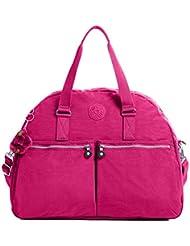 Kipling Eugina Satchel (One Size, Vibrant Pink (688))