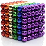 MagneBalls 5MM Magic Ball Set for Office Stress Relief |Desk Sculpture Toy Perfect for Crafts, Jewelry, Education |Fidget Cube Provides Relief for Anxiety, ADHD, Autism, Boredom