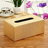 Creative Leather Facial Tissue Box Home Office Car Decor , E , 20128.5cm