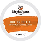 Gloria Jean's Butter Toffee Keurig Single-Serve K-Cup Pods, Medium Roast Coffee, 72 Count (6 Boxes of 12 Pods)
