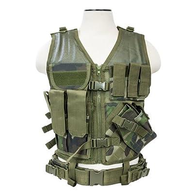 NcSTAR NC Star CTV2916WC, Tactical Vest, Woodland Camo, M-XL