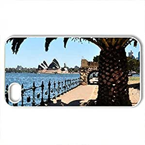 A BEAUTIFUL DAY - Case Cover for iPhone 4 and 4s (Oceans Series, Watercolor style, White)