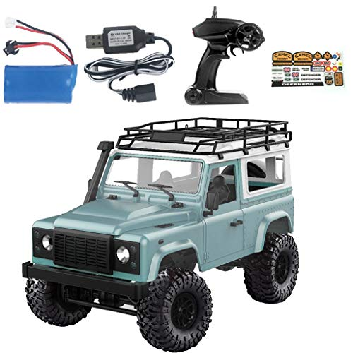 - RC Machine Toy, salaheiyodd【Ship from USA】MN-90 1/12 2.4G 4WD RC Car with Spare Tire Front LED Light Roof Rack Crawler Truck RTR Toy