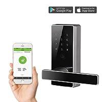 ZKTeco DL30B Keyless Bluetooth Locks Digital Keypad Door Lock Smart Home Entry+5 pcs RFID Cards (Zinc Alloy)