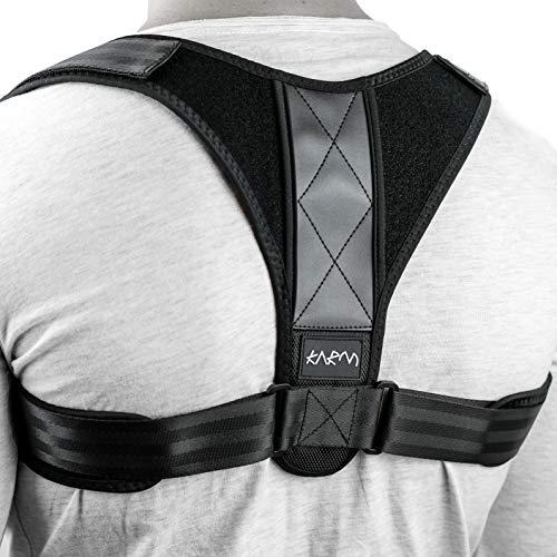 Bone Adjustable Collar - Adjustable Clavicle Posture Corrector Support Strap Brace for Collarbone, Upper Back Straightener, Scapula, Shoulder Blade, Hunchback, Figure 8, Men, Women, Kids & Plus Size (L/XL)