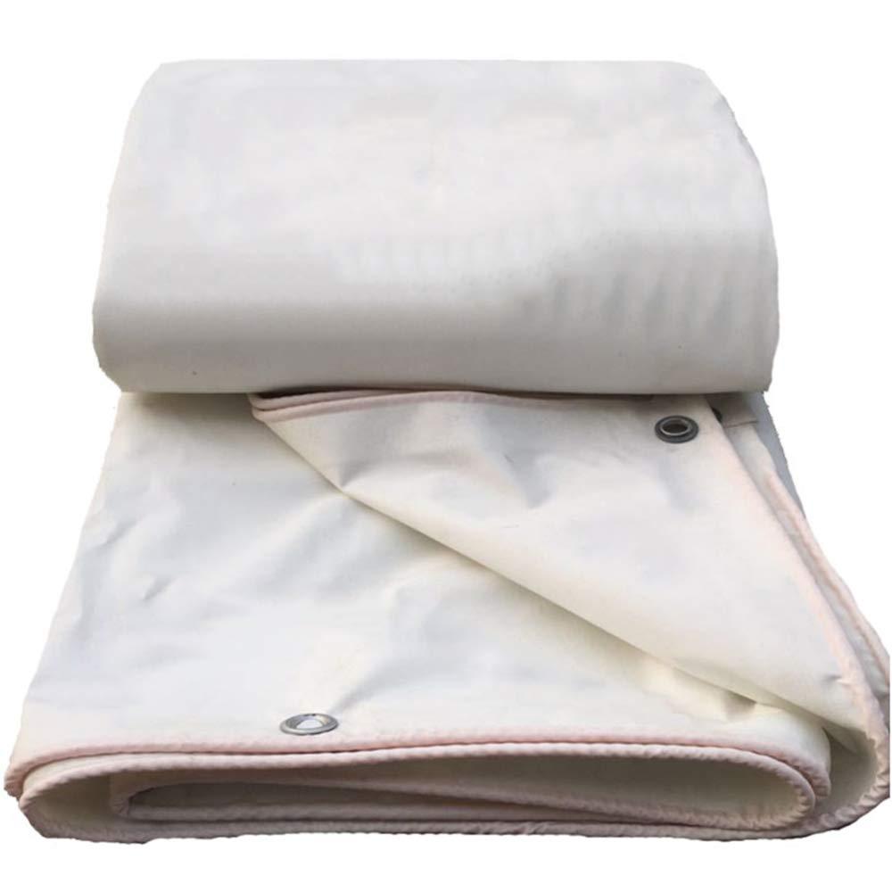 Tela Ignifuga Impermeabile Telone Di Protezione Solare A Prova Di Vento Camion Telone Canopy Cloth Resistente All'usura Protezione Dalla Corrosione Facile Da Piegare,bianca-2.87.8m