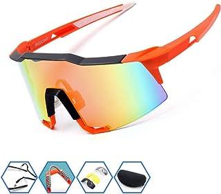 Yuqianqian Gafas Polarizadas Deporte Bici Anti UV400 Montar Motocicleta Gafas Gafas de Sol Correr Conducir Pesca Esquí Gafas Montar Lentes Grandes Gafas (Color : Black Green)