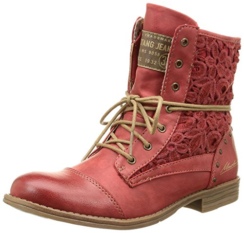 Classiques 527 Bottes 5 1157 Mustang Mustang 1157 Rot Rouge Femme FIngnRX