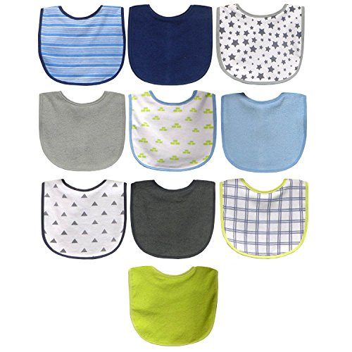 Neat Solutions Boy 10 Pack Water Resistant Bib Set