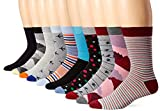 3KB Mens Dress Socks (10 Pairs Per Pack) - Variety of Patterns and Sizes