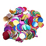 YeahiBaby Circle Confetti Colorful Metallic Foil Sequin for Christmas Wedding Party Decoration