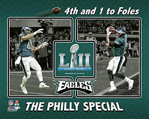"Philadelphia Eagles ""The Philly Special"" 4th and 1 to Nick Foles Super Bowl 52 8x10 Photo, Picture"