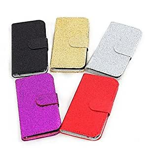 SHERRYLEE Coway Fashion Flash PU Leather Full Body Case for Samsung S2 i9100(Assorted Color) , Red