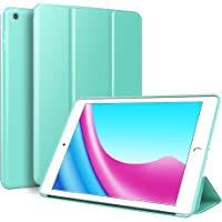 Kenke Ultra Slim Lightweight Smart TPU Soft Silicone Case Stand for 9.7 inch iPad 5th/6th Generation (Mint Green)