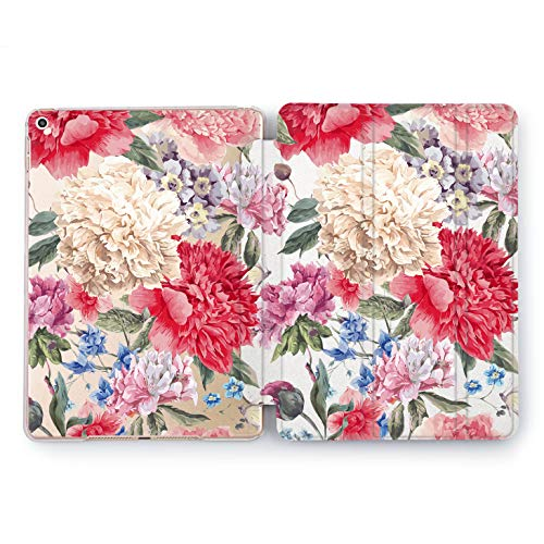 Wonder Wild Carnation Pattern iPad Case 9.7 Pro inch Mini 1 2 3 4 Air 2 10.5 12.9 2018 2017 Design 5th 6th Gen Clear Print Smart Hard Cover Flowered Print Yellow Red Green Natural Florist Bouquet