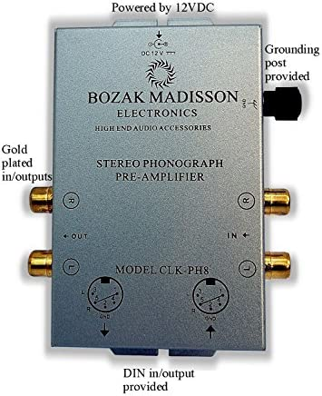 Bozak Madisson CLK-PH8 Phono Preamp Preamplifier Turntable Amplifier with DIN in out