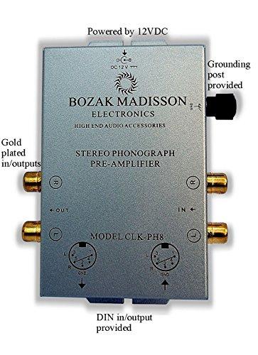 Bozak Madisson CLK-PH8 Phono Preamp Preamplifier Turntable A