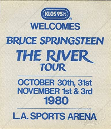 Bruce Springsteen 1980 Backstage Pass Klos Radio Promo L A Sports Arena At Amazon S Entertainment Collectibles Store