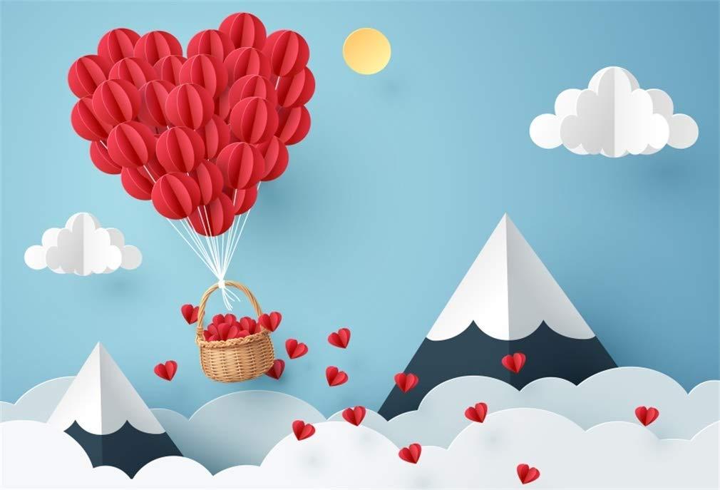 Yeele 5x3フィート ビニール製 写真撮影用背景幕 バレンタインデー テーマ パーティー 背景 写真用 ロマンチック 結婚式 婚約 子供 赤ちゃん 大人 写真ブース 撮影 ビニール スタジオ 小道具   B07L87DQB7