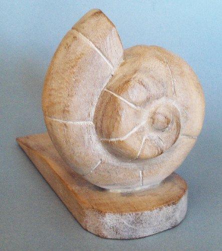 Door Stopper - Wooden Nautilus Shell Door Stop - Nautilus Shell Doorstop