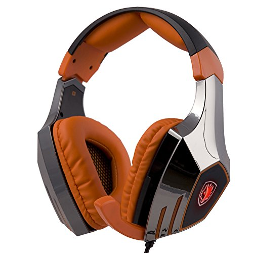 A60 Usb Cable - SADES A60 7.1 Surround Stereo PC Pro USB Gaming Headset Headphone with High Sensitivity Mic Vibration(Electroplating Version)